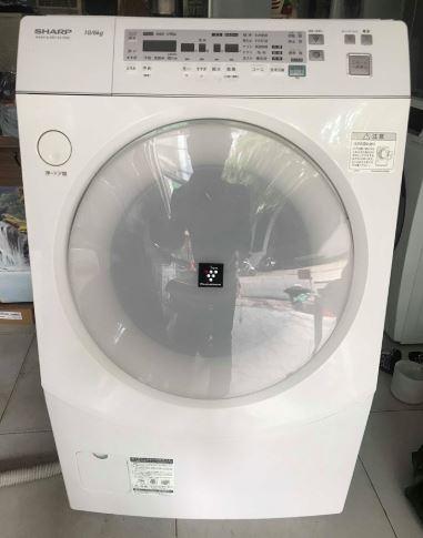 Máy giặt nội địa Nhật Sharp ES-V520 giặt 10kg sấy khô 6kg mới 90%