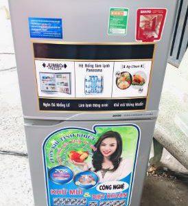 Tủ lạnh cũ Sanyo SR-125RN 123l mới 90%